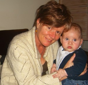 Clare Hudman with hypnobirthing baby